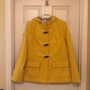 Wool with hood trench coat